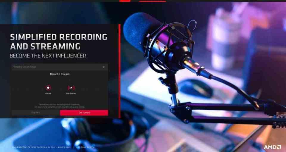 AMD Adrenalin Streaming