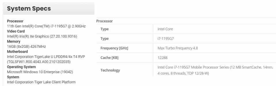 Intel 1195G7