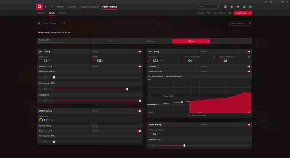 AMD Adrenalin Performance Tuning
