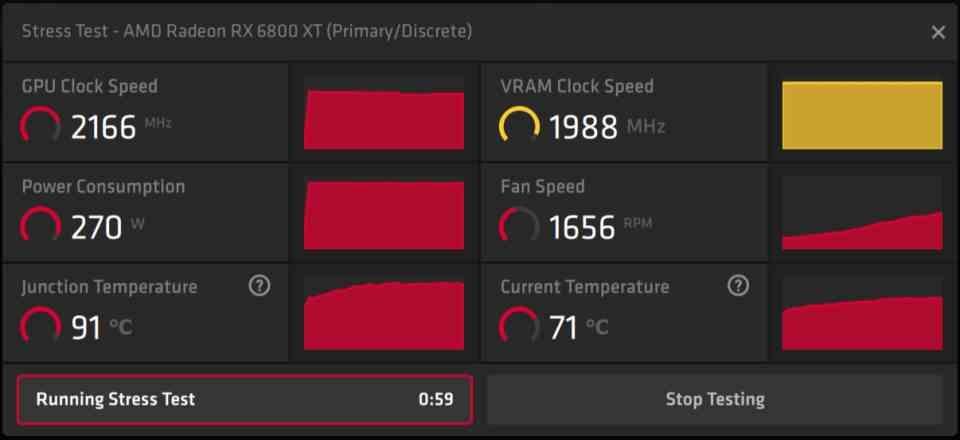AMD Adrenalin Stress Test