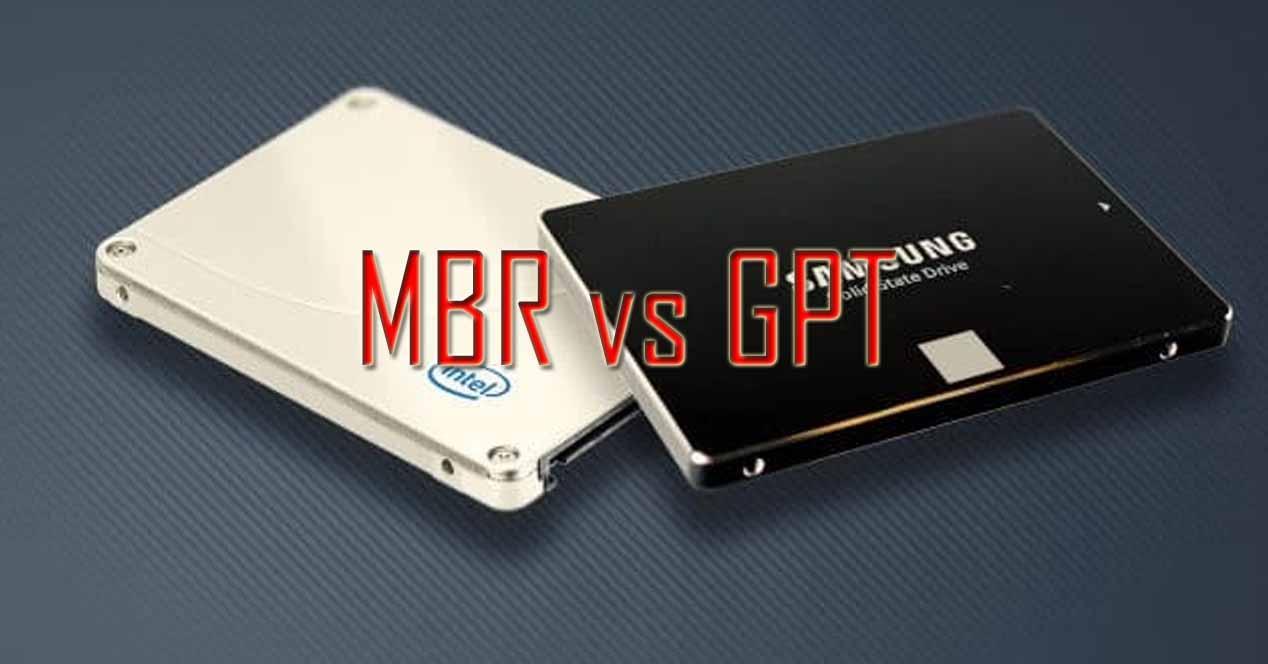SSD MBR GPT