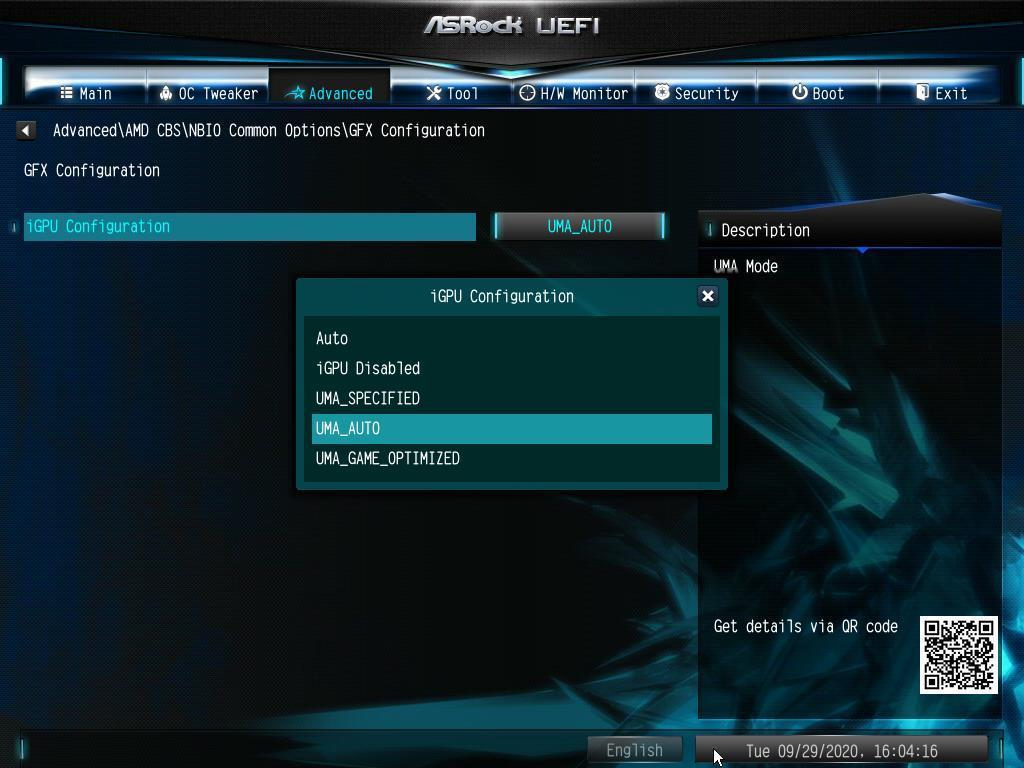 Désactiver l'iGPU ASRock AMD