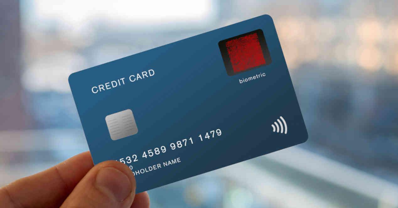 Credit card with a fingerprint sensor