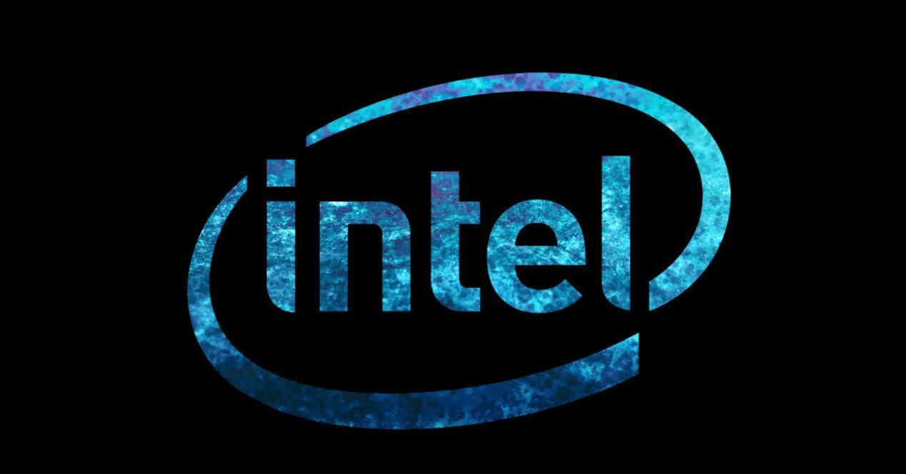 Logo Intel Fondo Negro