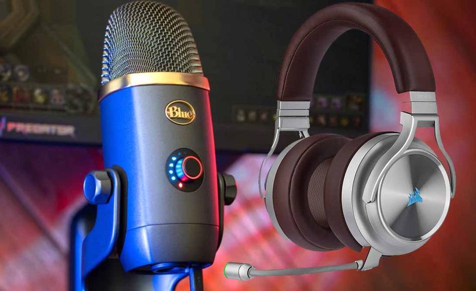 Micrófono mesa auriculares