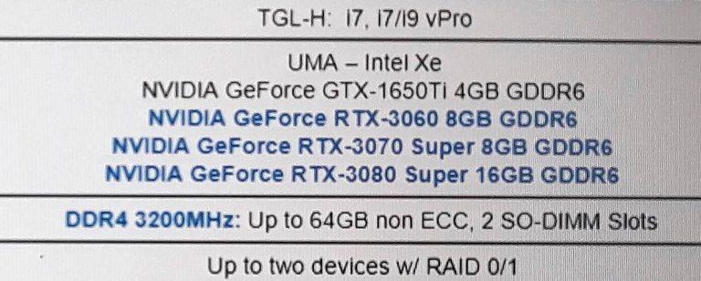 RTX 30 SUPER Lenovo
