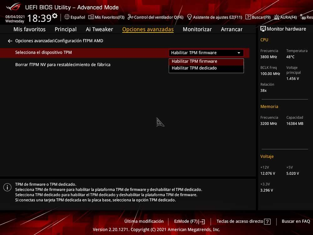 AMD fTPM BIOS UEFI Windows 11 (2)