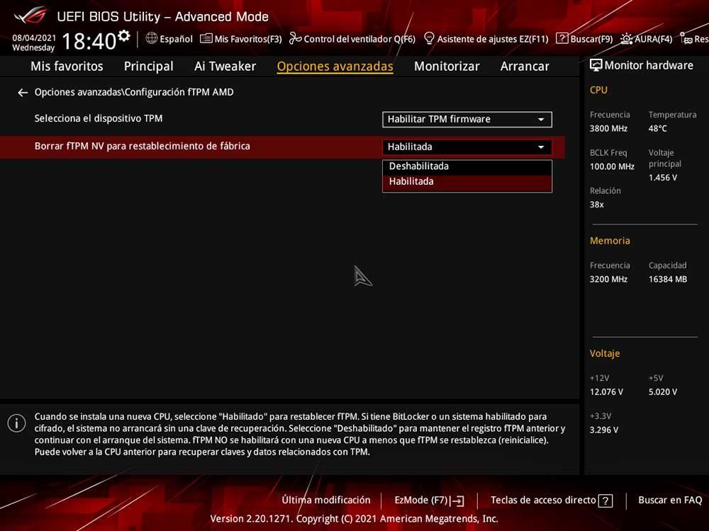 AMD fTPM BIOS UEFI Windows 11 (3)