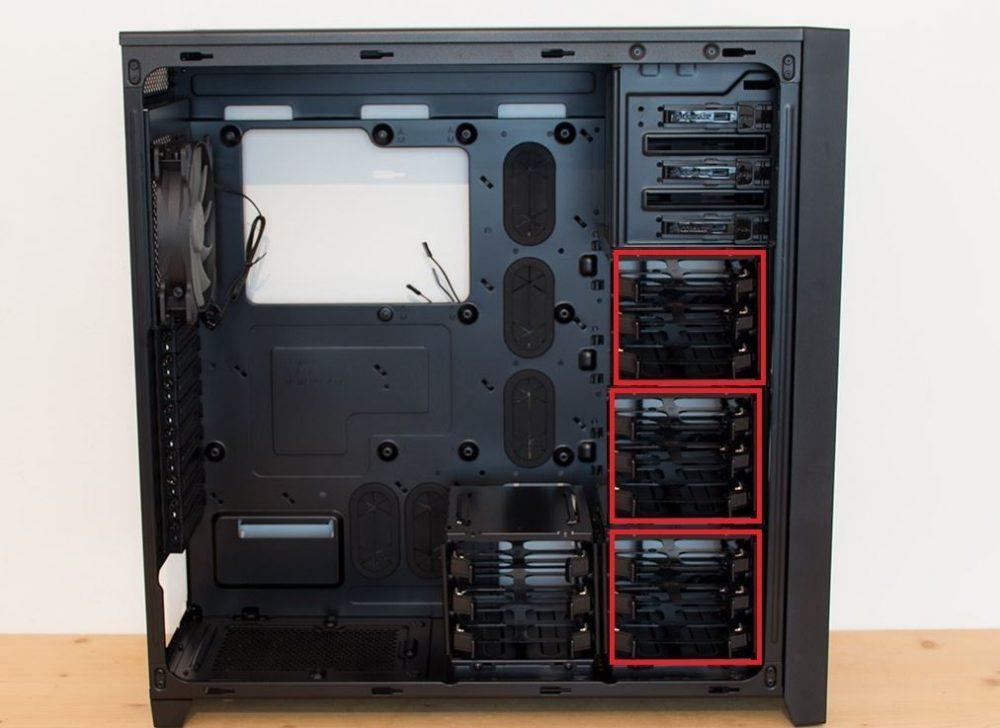 Bandejas montar discos duros