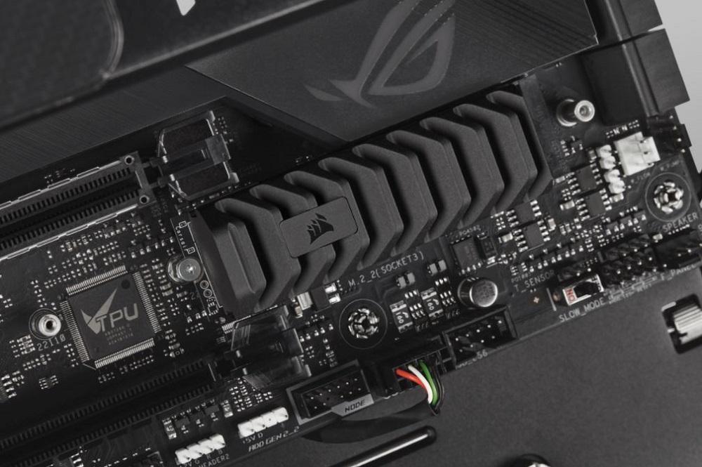 SSD Corsair MP600 PRO XT instalado