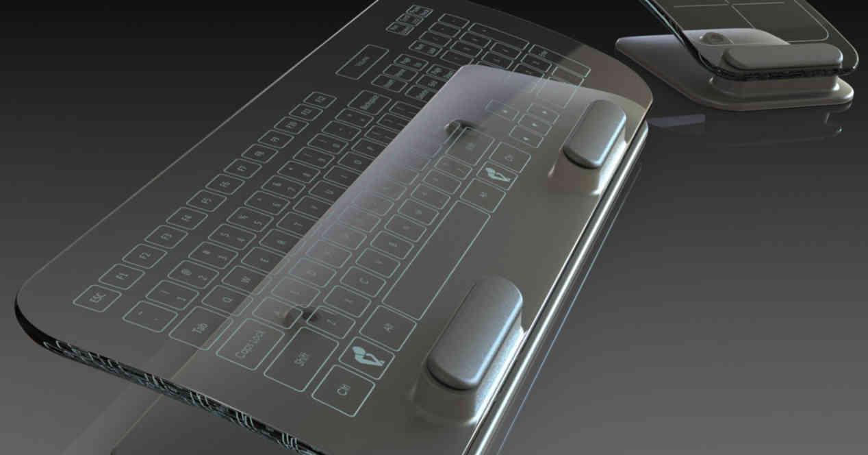 teclado totalmente táctil
